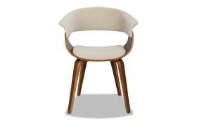 Mid-Century Cream Mod Office Chair