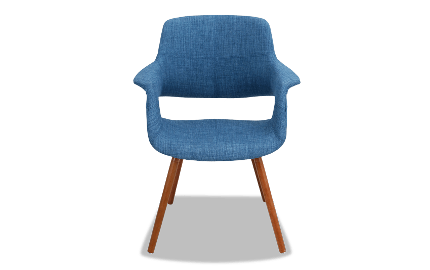 MidCentury Blue Flair Chair