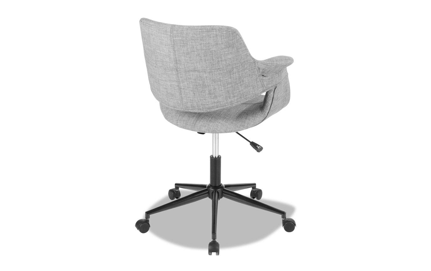 Mid-Century Flair Grey Office Chair