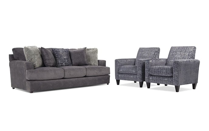 Avenue Sofa & 2 Accent Chairs