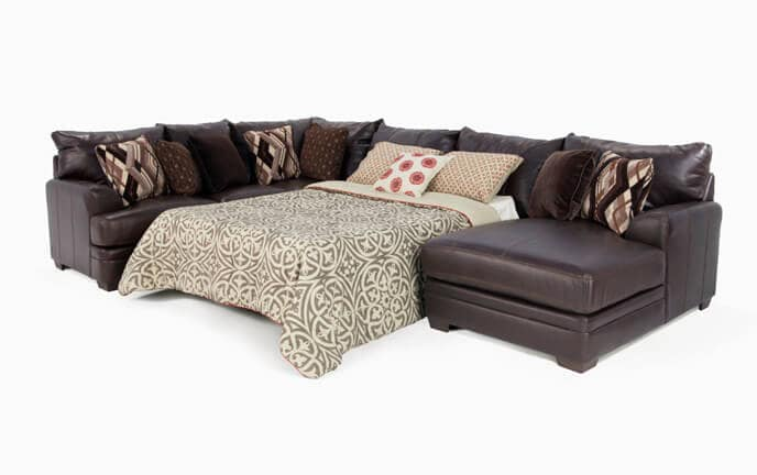 Ritz 4 Piece Left Arm Facing Innerspring Queen Sleeper Sectional