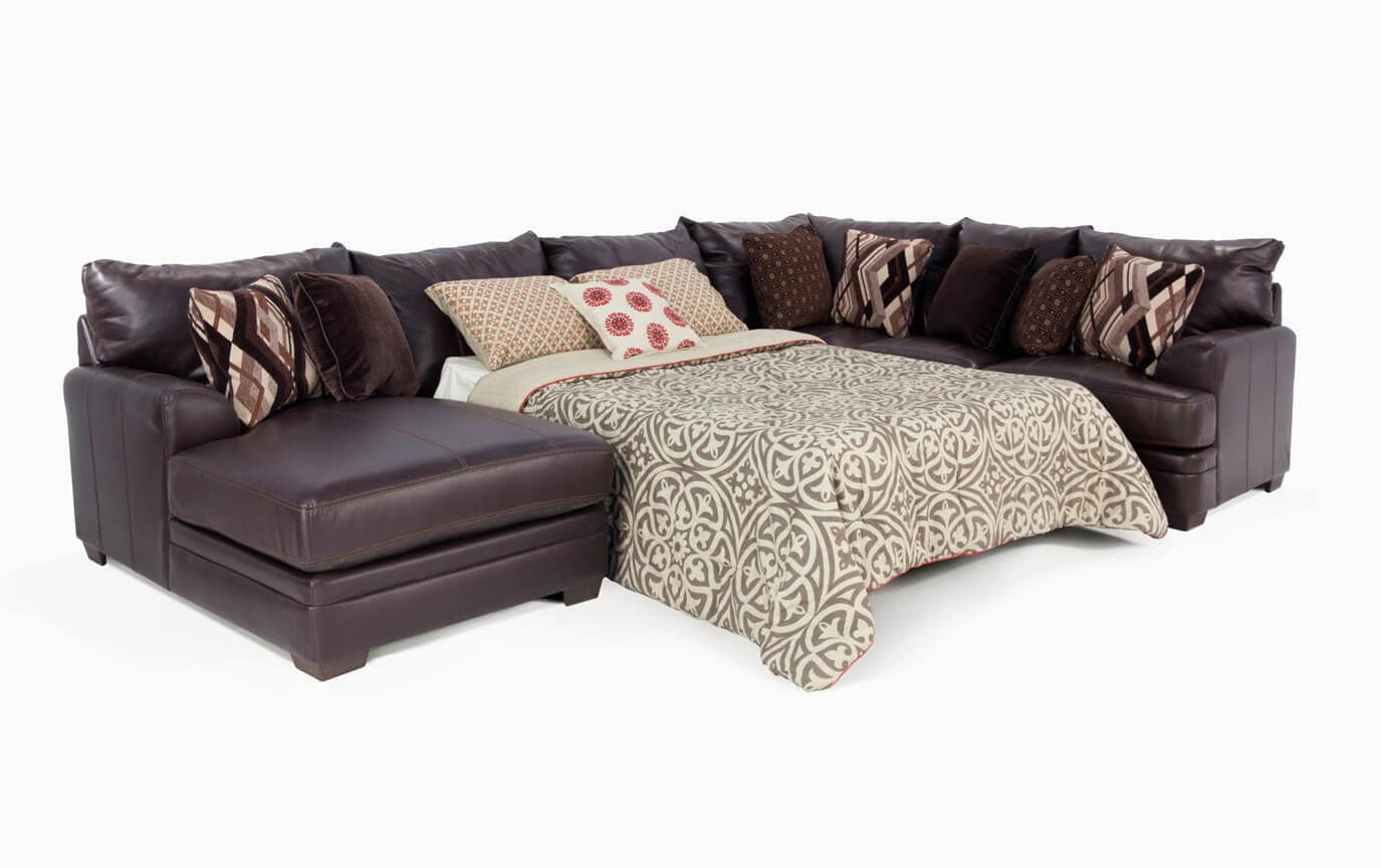 Ritz 4 Piece Right Arm Facing Bob-O-Pedic Gel Queen Sleeper Sectional