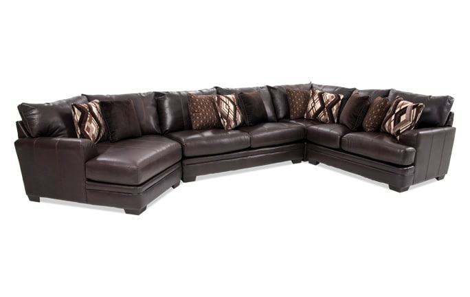 Ritz 4 Piece Right Arm Facing Sectional with Cuddler Chaise