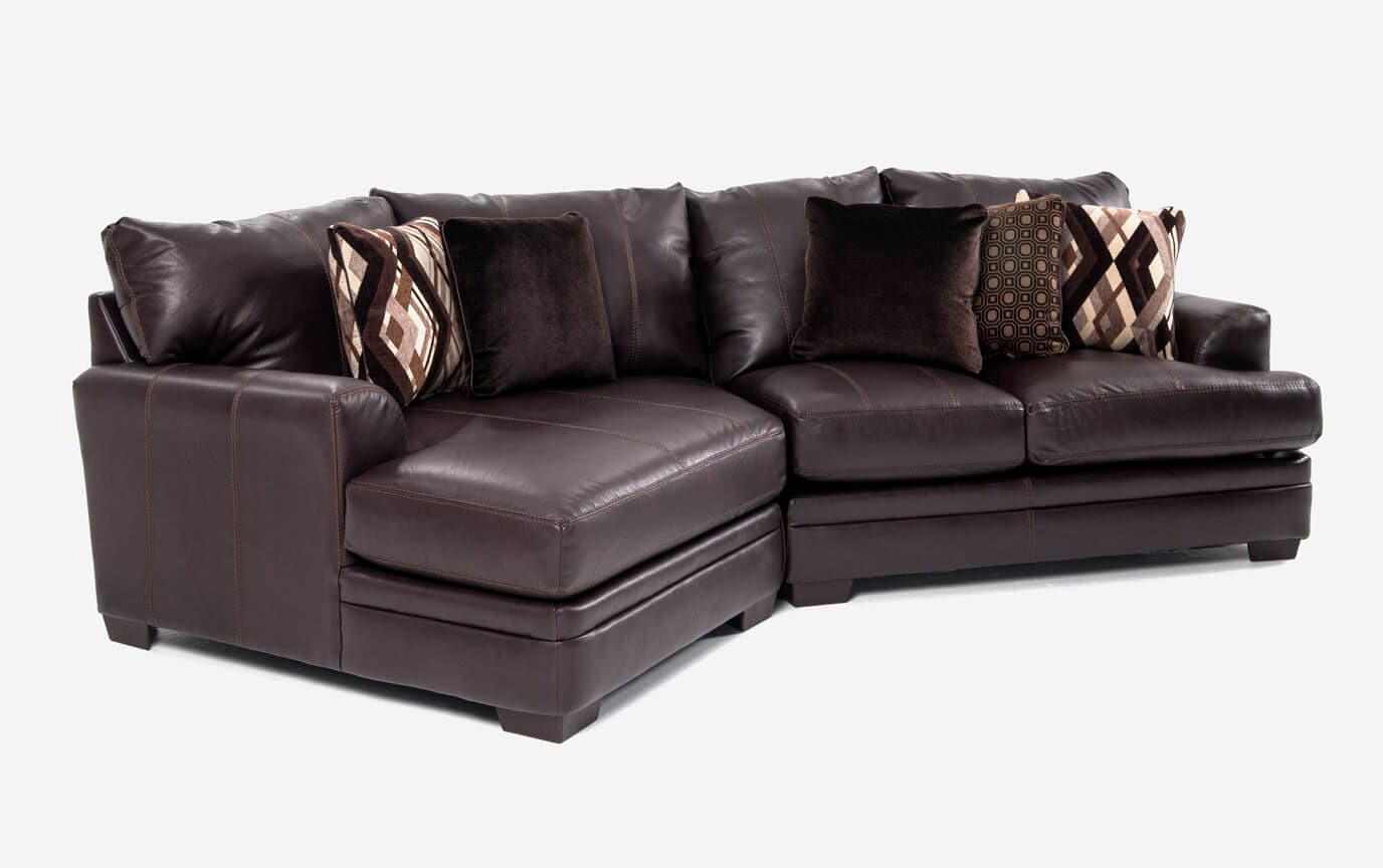 Ritz 2 Piece Right Arm Facing Sectional with Cuddler Chaise