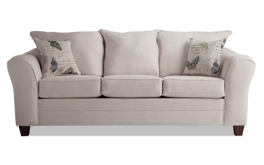 Adrina Cream Butterfly Sofa