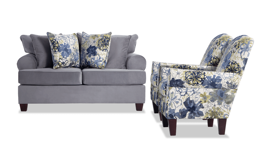 Monica Loveseat & 2 Accent Chairs