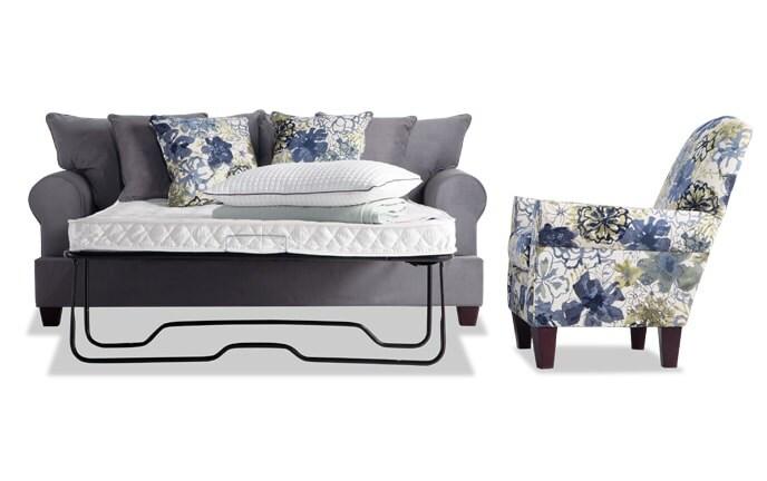 Monica Full Innerspring Sleeper Sofa & Accent Chair
