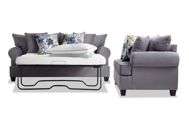 Monica Full Bob-O-Pedic Sleeper Sofa & Loveseat