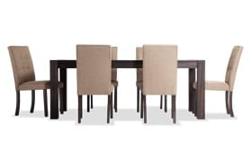 """Summit Wire Brush 42"""" x 78"""" 7 Piece Dining Set with Upholstered Chairs"""
