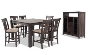 """Summit Wire Brush 54"""" x 54"""" 8 Piece Counter Set With Server"""