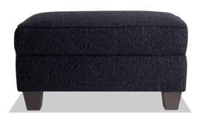 Calvin Onyx Black Storage Ottoman