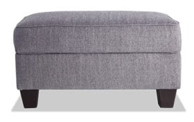 Calvin Concrete Gray Storage Ottoman