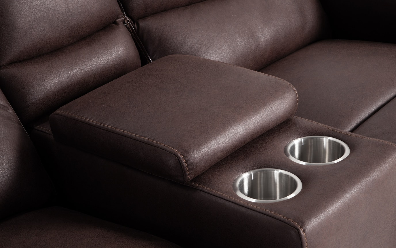 Forte Manual Reclining Sofa & Console Loveseat