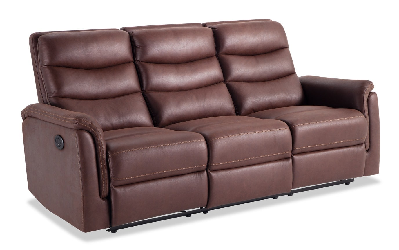 Forte Power Reclining Sofa & Console Loveseat