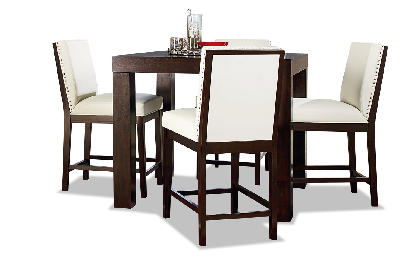 Isadora 5 Piece Counter Table Set