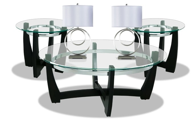 Matinee Coffee Table Set with Pair of Annapolis Lamps