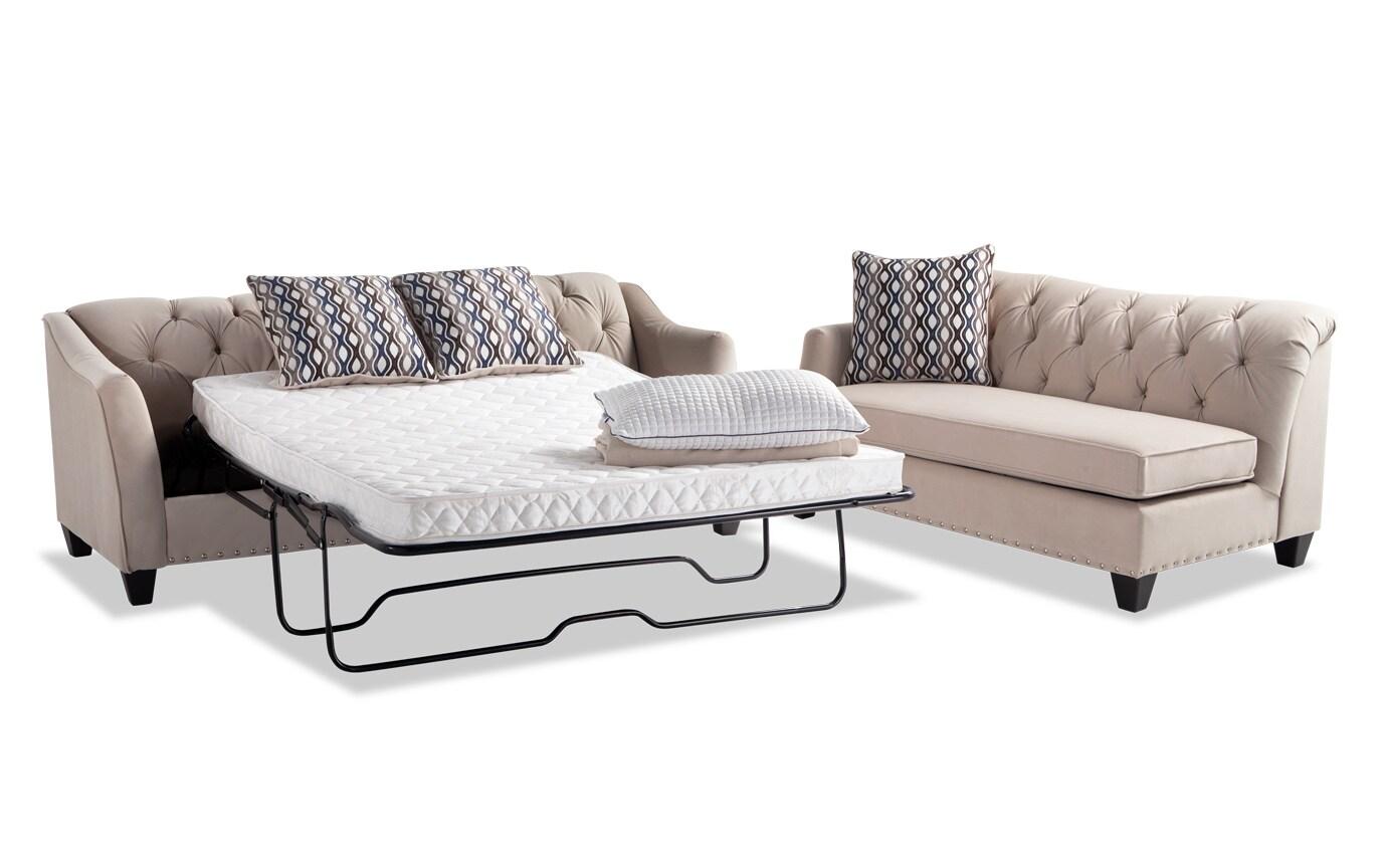 Marley Innerspring Sleeper Sofa & Chaise