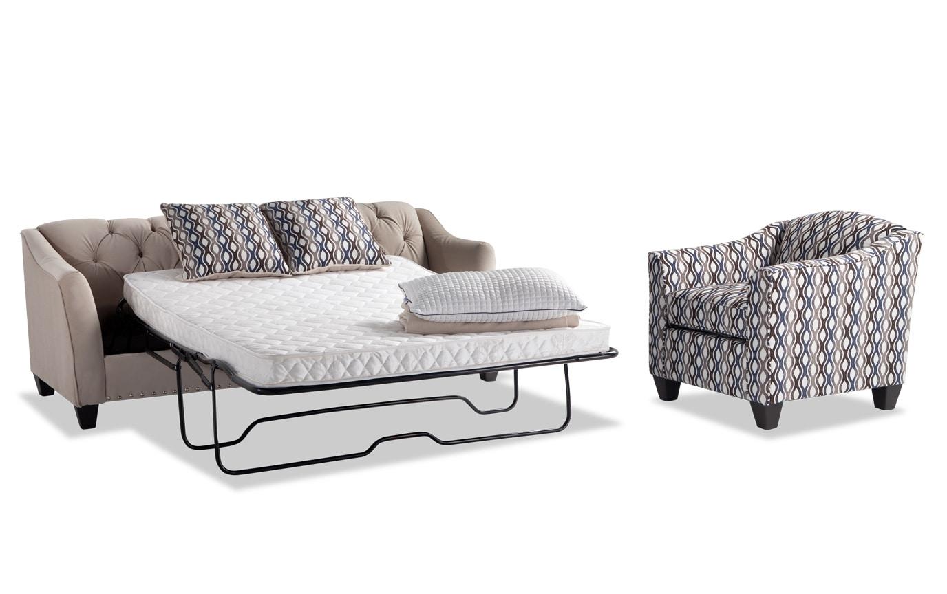 Marley Innerspring Sleeper Sofa & Accent Chair