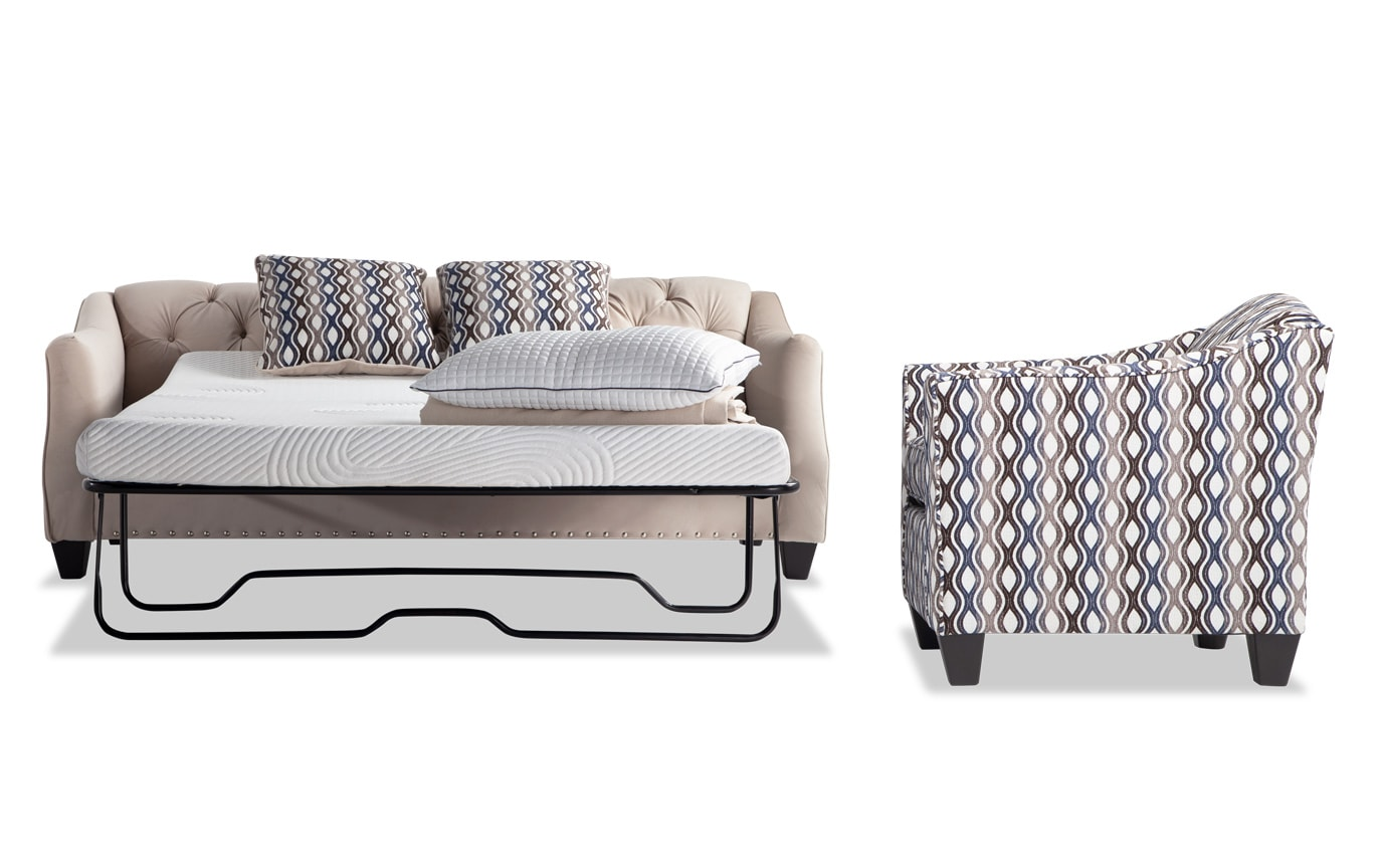 Marley Bob-O-Pedic Sleeper Sofa & Accent Chair