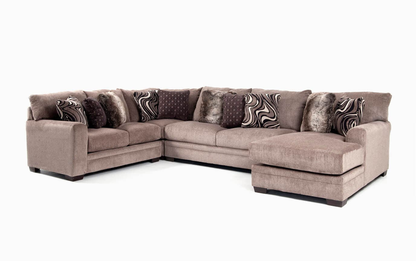 Luxe Gray 4 Piece Left Arm Facing Sectional With Chaise Bobs Com