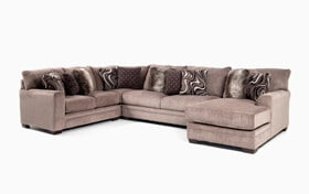 Luxe Gray 4 Piece Left Arm Facing Sectional with Chaise