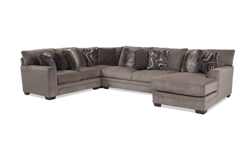Luxe 4 Piece Left Arm Facing Sectional with Chaise
