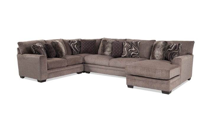 Luxe 4 Piece Left Arm Facing Sectional With Chaise ...