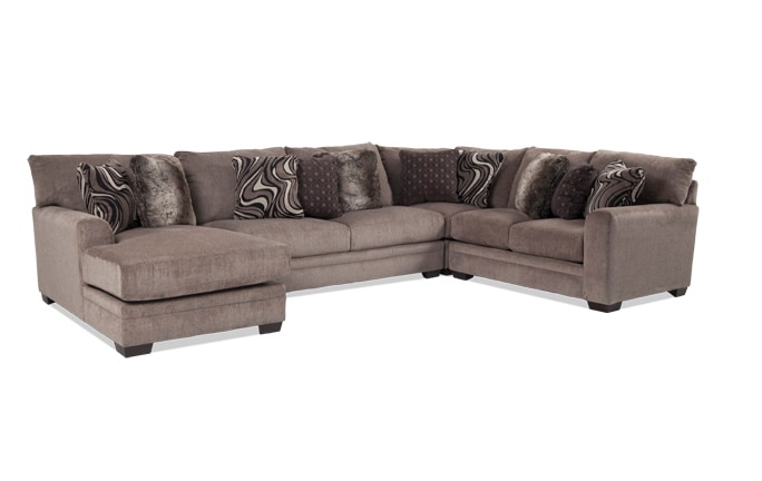 Gentil Luxe 4 Piece Right Arm Facing Sectional With Chaise ...