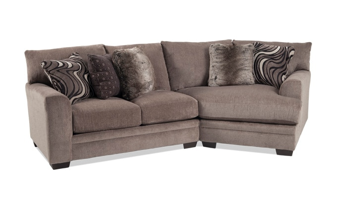 Luxe 2 Piece Left Arm Facing Sectional With Cuddler Chaise