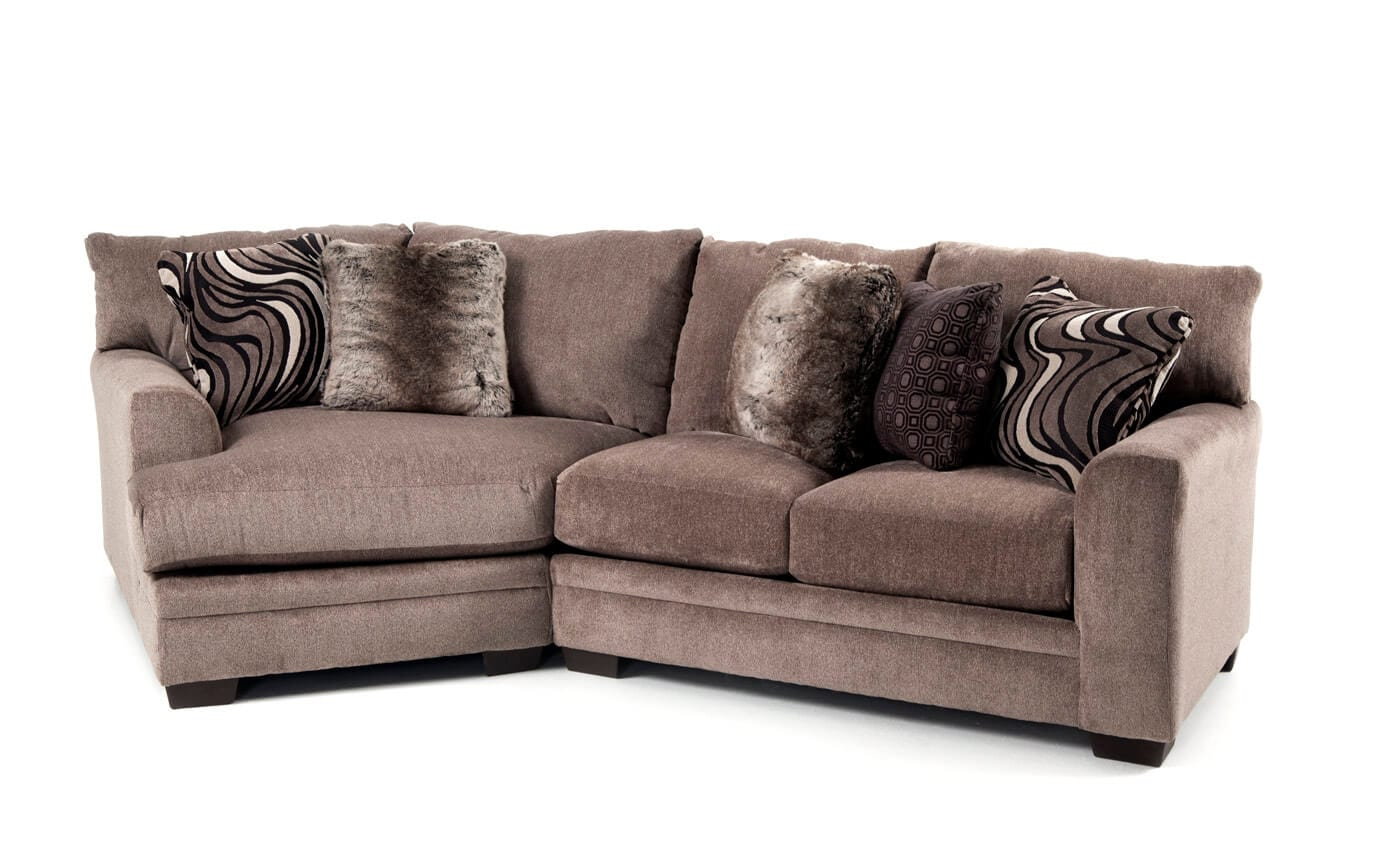 Luxe 2 Piece Right Arm Facing Sectional With Cuddler Chaise Bobscom