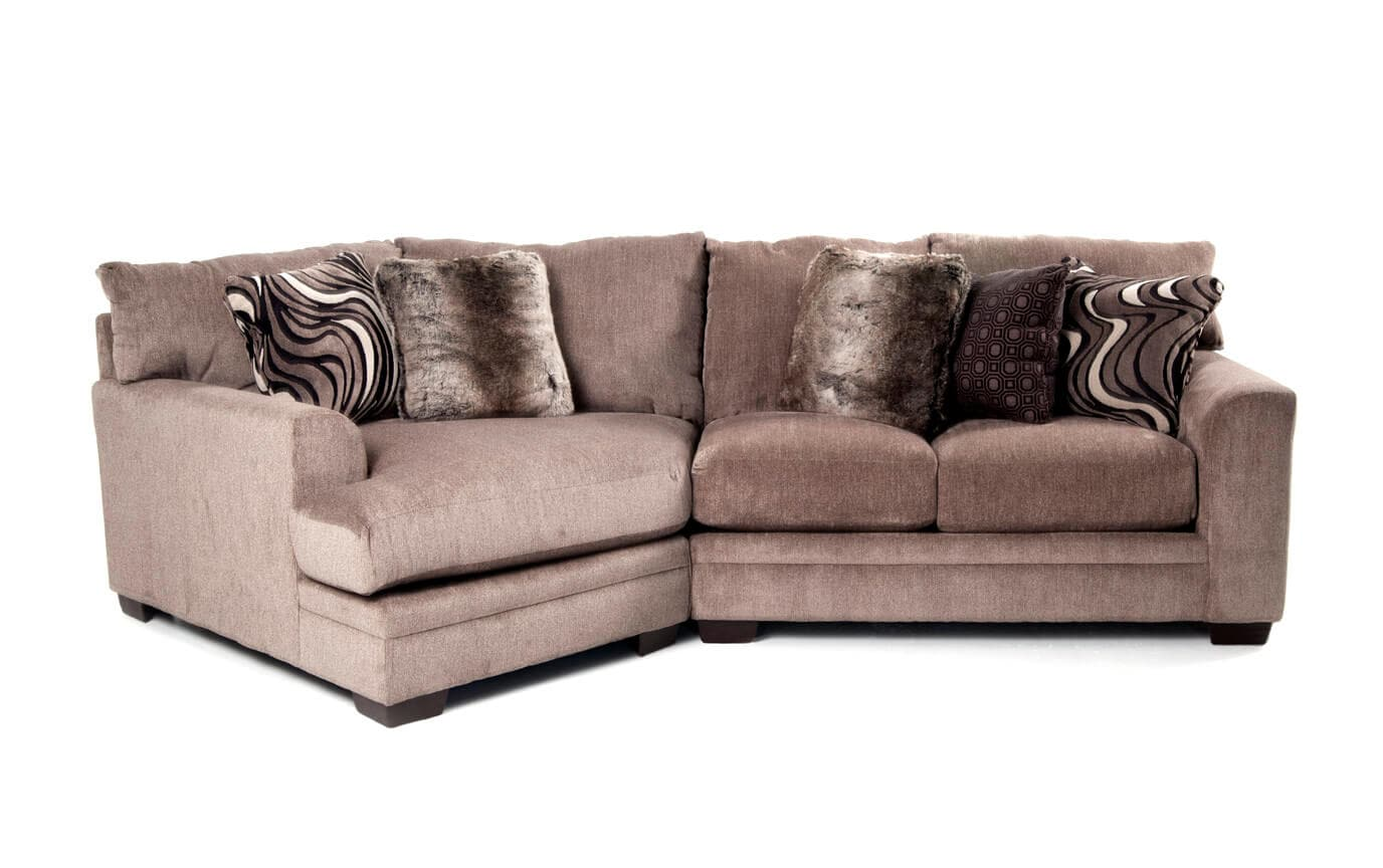 Luxe Gray 2 Piece Right Arm Facing Sectional With Cuddler