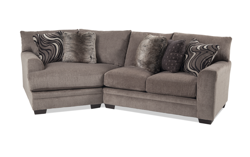 Luxe 2 Piece Right Arm Facing Sectional With Cuddler Chaise