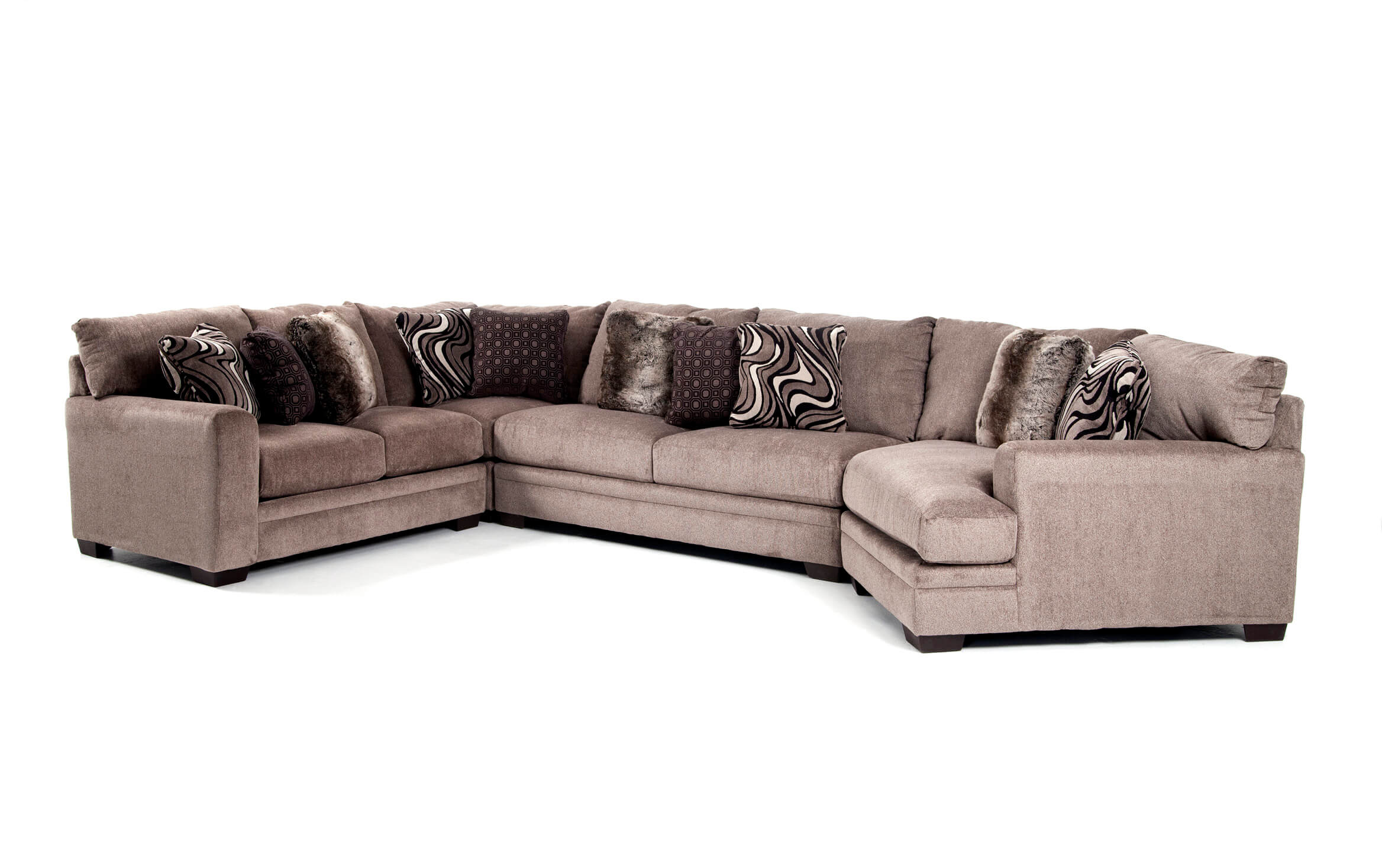Sofa With Cuddler Furniture Wedport 3 Pc Fabric Sofa ...
