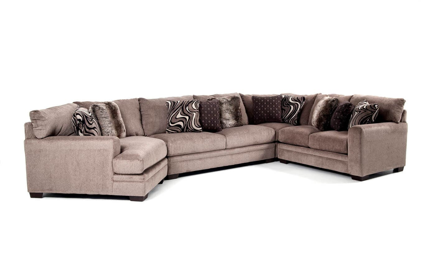 Luxe 4 Piece Sectional with Cuddler Chaise | Bobs.com