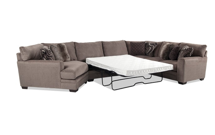 Luxe 4 Piece Right Arm Facing Innerspring Queen Sleeper Sectional With Cuddler