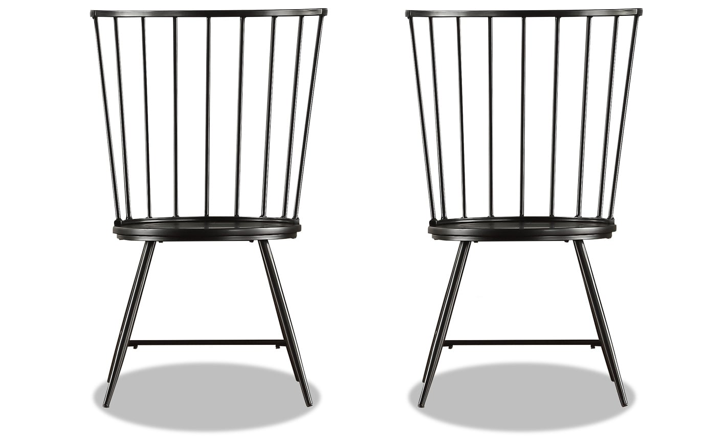 Set of 2 Claire Black Dining Chairs