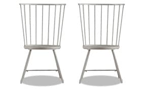 Set of 2 Claire White Dining Chairs