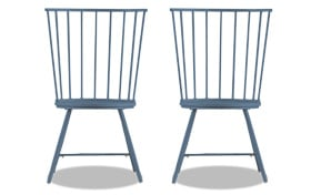Set of 2 Claire Blue Dining Chairs