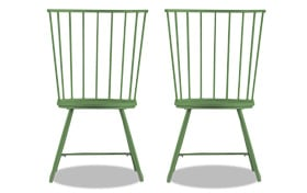 Set of 2 Claire Green Dining Chairs