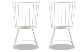 Set of 2 Claire Gray Dining Chairs