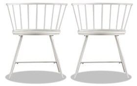 Set of 2 Shari White Dining Chairs
