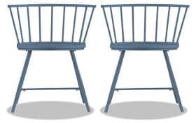 Set of 2 Shari Blue Dining Chairs