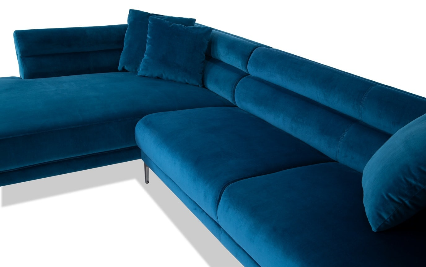 Elegance Teal 2 Piece Right Arm Facing Sectional