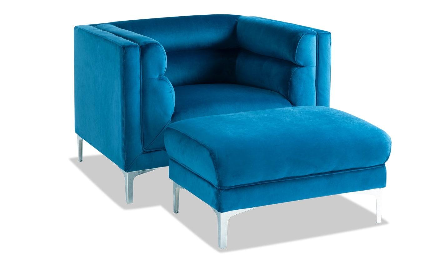 Elegance Chair & Storage Ottoman