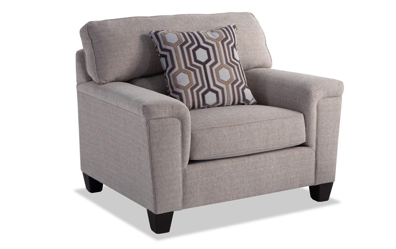 Calvin Almond Beige Sofa, Chair & Storage Ottoman