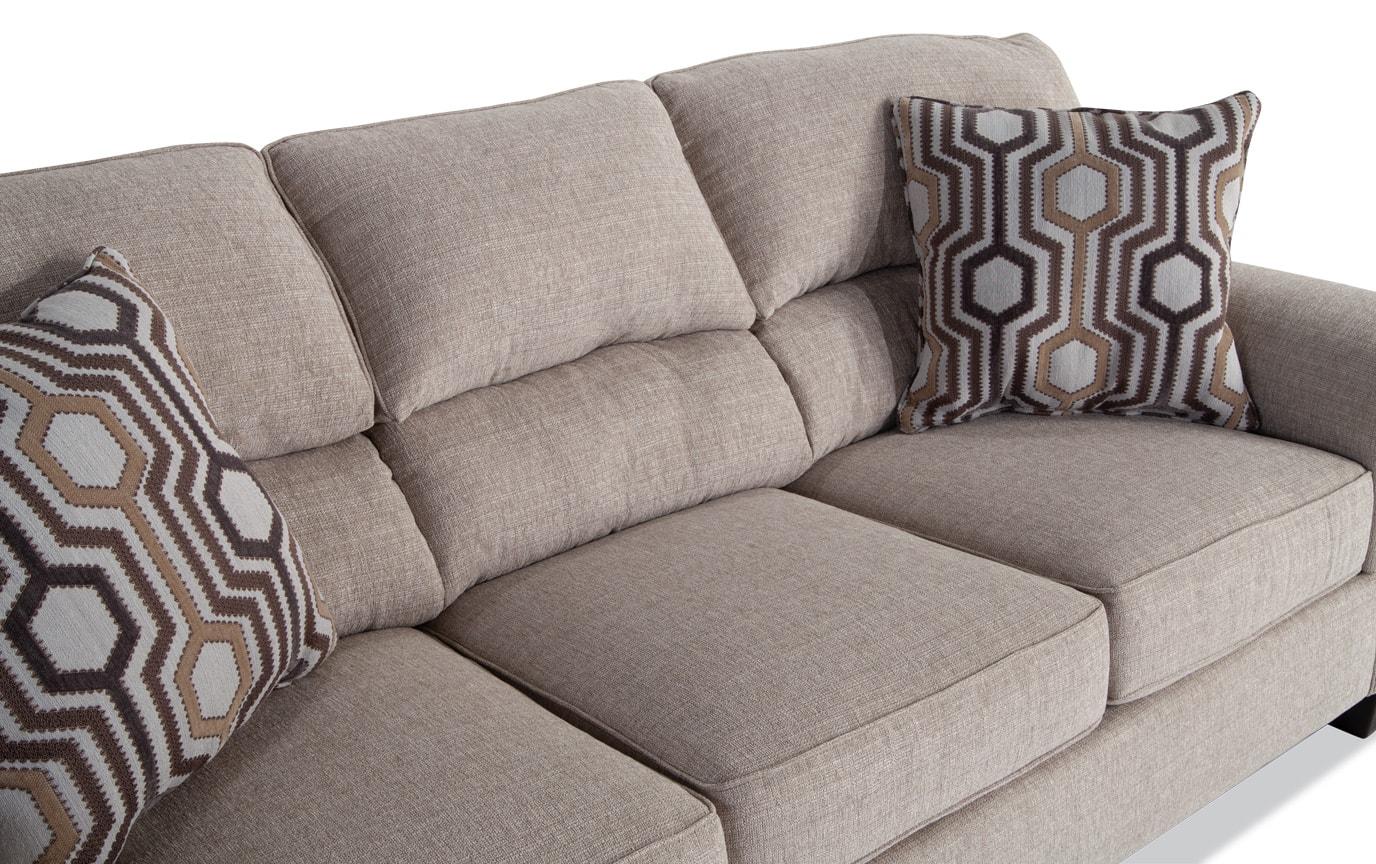 Calvin Almond Beige Bob-O-Pedic Queen Sleeper Sofa & 2 Accent Chairs