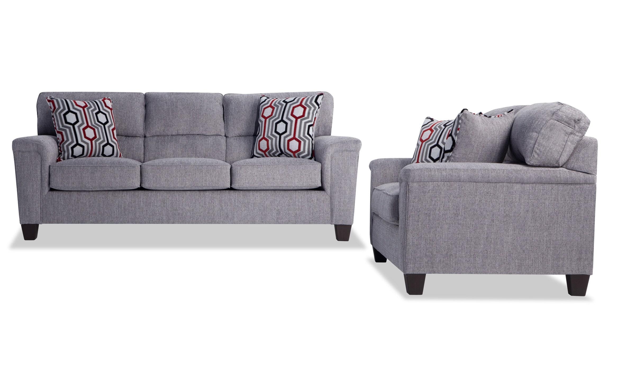 Picture of: Calvin Concrete Gray Sofa Loveseat Bobs Com