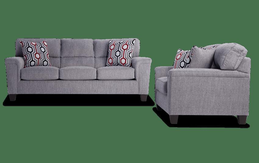 Calvin Concrete Gray Sofa & Loveseat