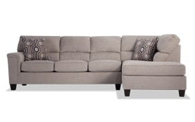 Calvin 2 Piece Almond Beige Left Arm Facing Sectional