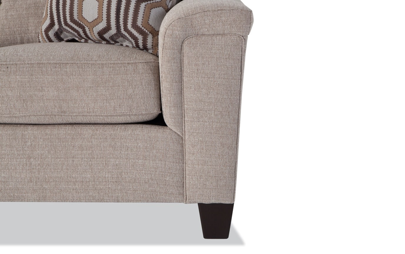 Calvin 2 Piece Almond Beige Right Arm Facing Sectional